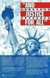"""and justice for all"" sign"