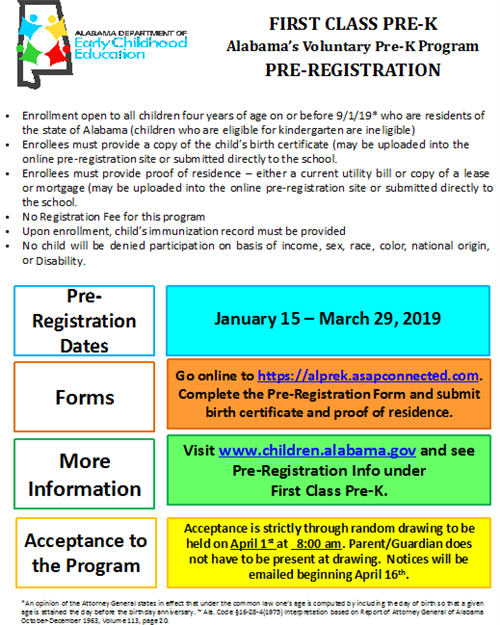 Prek Registration 2019
