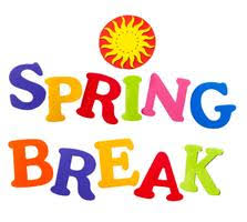 Spring Break - March 30th - April 3rd